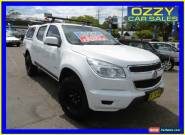 2013 Holden Colorado RG LX (4x2) White Manual 5sp M Crewcab for Sale