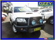 2014 Toyota Hilux KUN26R MY14 SR (4x4) White Automatic 5sp A Cab Chassis for Sale