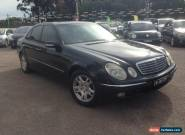 2003 Mercedes-Benz E320 211 Elegance Black Automatic 5sp A Sedan for Sale