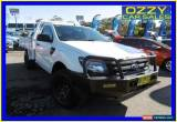 Classic 2013 Ford Ranger PX XL 3.2 (4x4) White Manual 6sp M Cab Chassis for Sale