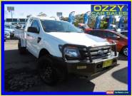 2013 Ford Ranger PX XL 3.2 (4x4) White Manual 6sp M Cab Chassis for Sale