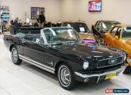 1966 Ford Mustang Black Automatic A Convertible for Sale