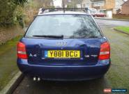 Audi A4 Estate Car 1.9 TDI, 2001 Blue.  Workers Vehicle Good Runner for Sale