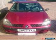 Renault Clio 2003 1.5 dci SPARES OR REPAIR for Sale