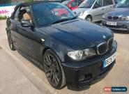 2005 BMW 320 CI M SPORT BLACK CONVERTIBLE - LONG MOT, ALPINE CD for Sale