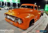 Classic 1954 Ford F100 Orange Automatic 2sp A Single Cab for Sale