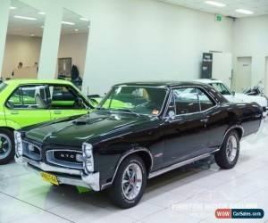 Classic 1966 Pontiac GTO Black Automatic A Coupe for Sale