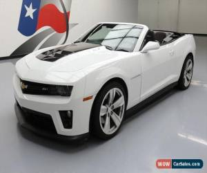 Classic 2013 Chevrolet Camaro ZL1 Convertible 2-Door for Sale