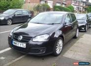 VW GOLF GT TDI 57 PLATE 170BHP BLACK 5 DOOR HEATED LEATHER 150K MILES  for Sale