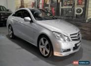 2010 Mercedes-Benz E250 CGI C207 Elegance Silver Automatic 5sp A Coupe for Sale