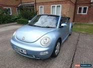 Volkswagen Beetle Convertible Blue 4 Seats (MOT April 2018) 2003 Petrol for Sale