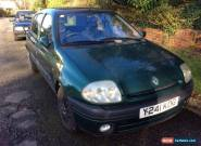 2001 RENAULT CLIO ALIZE GREEN. Mot the best car in the world says my son  for Sale