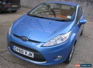 2010/60 FORD FIESTA ZETEC 1.25 - 5 DR HATCH, VISION BLUE METALLIC, 1 OWNER for Sale
