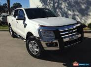 2013 Ford Ranger PX XLT 3.2 (4x4) White Manual 6sp M Dual Cab Utility for Sale