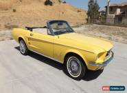 1967 Ford Mustang SPORTS CONVERTIBLE for Sale