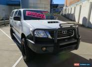 2012 Toyota Hilux KUN26R MY12 SR White Manual 5sp M 4D UTILITY for Sale