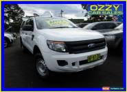 2012 Ford Ranger PX XL 2.2 HI-Rider (4x2) White Automatic 6sp A Crew Cab P/Up for Sale