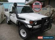 2002 Toyota Landcruiser HDJ79R (4x4) White Manual 5sp M Cab Chassis for Sale