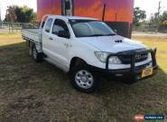 2011 Toyota Hilux KUN26R MY11 Upgrade SR (4x4) White Manual 5sp M Cab Chassis for Sale