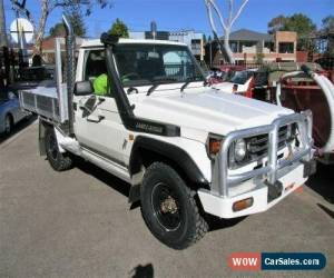 Classic 1999 Toyota Landcruiser FZJ75RP (4x4) White Manual 5sp M Cab Chassis for Sale