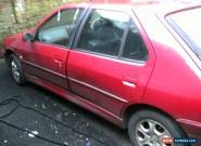 1999 PEUGEOT 306 MERIDIAN RED SPARES OR REPAIR for Sale
