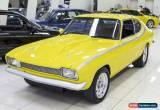Classic 1971 Ford Capri Yellow Automatic A Sedan for Sale