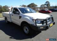 2012 Ford Ranger PX XL 2.2 (4x4) White Manual 6sp M Cab Chassis for Sale