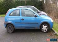 2002 VAUXHALL CORSA CLUB 12V BLUE SPARES OR REPAIRS for Sale