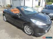 2008 Peugeot 207 CC Convertible 1.6 16V 120 GT Petrol black Manual for Sale