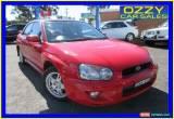 Classic 2003 Subaru Impreza MY04 RS (AWD) Red Automatic 4sp A Sedan for Sale