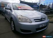 2005 Toyota Corolla ZZE122R Ascent Sport Seca Silver Blue Automatic 4sp A for Sale
