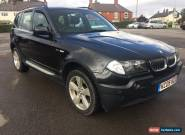 2005 05 BMW X3 2.5 SPORT BLACK FULL LEATHER BEAUTIFUL CAR THROUGHOUT for Sale