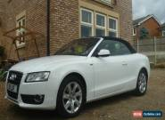 audi A5 cabriolet in white , including private reg , immaculate, 2011 for Sale
