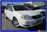 Classic 2003 Toyota Corolla ZZE122R Conquest White Manual 5sp M Sedan for Sale