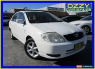 2003 Toyota Corolla ZZE122R Conquest White Manual 5sp M Sedan for Sale