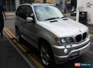 BMW x5 3.0i sport e53 manual silver petrol very good condition Low Milage for Sale
