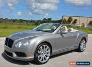2013 Bentley Continental GT Convertible for Sale