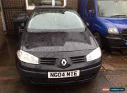 2004 RENAULT MEGANE EXTREME 16V BLACK Spares or repairs  for Sale