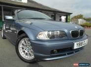 BMW 320i 2.2Li SE 168bhp 2 Door Manual Cabriolet 2001/Y Lilac Blue/Beige Leather for Sale