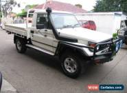 2006 Toyota Landcruiser HDJ79R (4x4) White Manual 5sp M Cab Chassis for Sale