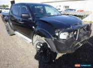 12/2014 MITSUBISH TRITON MN DUAL CAB 4WD 2.5L TURBO DIESEL M UTE DAMAGED DRIVES for Sale