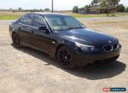 2004 BMW 530i E60 3.0L AUTO 195KMS ALLOYS DAMAGED LEATHER Repairable DRIVES for Sale