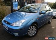 2002 Ford Focus 2.0 GHIA 4 Door Blue Long MOT Heated Leather Seats for Sale