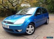 2004-04-FORD FIESTA 1.4 ZETEC, 5 DOOR HATCHBACK, 89,000 MILES FSH, BLUE METALLIC for Sale