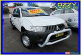Classic 2007 Mitsubishi Triton ML MY08 GLX White Manual 5sp M Double Cab Utility for Sale