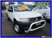 2007 Mitsubishi Triton ML MY08 GLX White Manual 5sp M Double Cab Utility for Sale