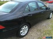 MERCEDES C180 KOMP= BLACK =53 REG=MANUAL 6 GEAR CLASSIC  for Sale