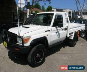 Classic 2007 Toyota Landcruiser VDJ79R GX (4x4) White Manual 5sp M Cab Chassis for Sale