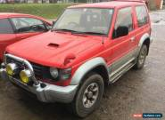 1995 MITSUBISHI PAJERO 2.8 TDI TURBO DIESEL SWB SHOGUN RED/SILVER SPARES/REPAIRS for Sale
