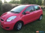 2010 Toyota Yaris Pink manual for Sale
